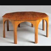 Walnut octagonal Table