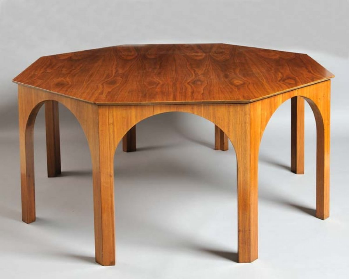 Walnut octagonal Table