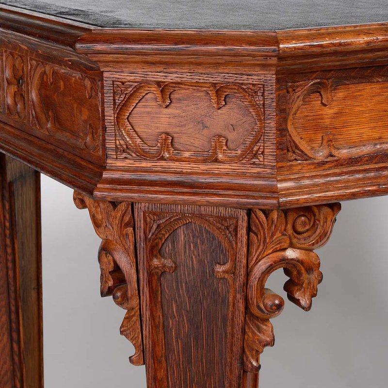 Regency Gothic Oak Writing Table