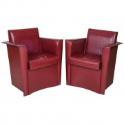 Pair of Italian leather Tub Chairs by Matteo Grassi, c 1970's