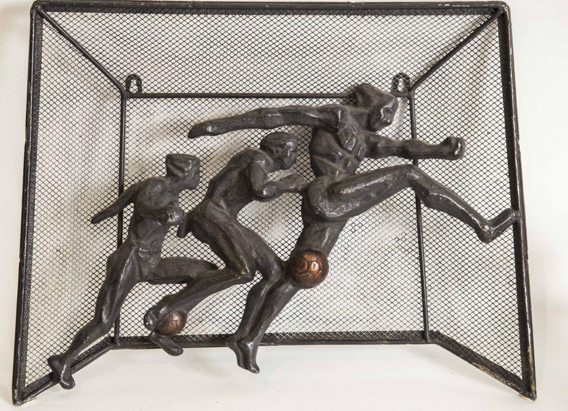 Russian Soccer Sculpture, c 1970's
