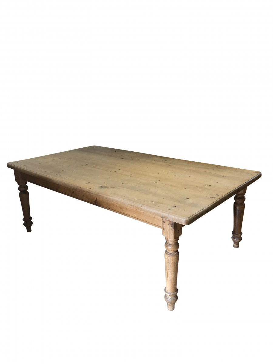 Early C20th Pine Kitchen Table